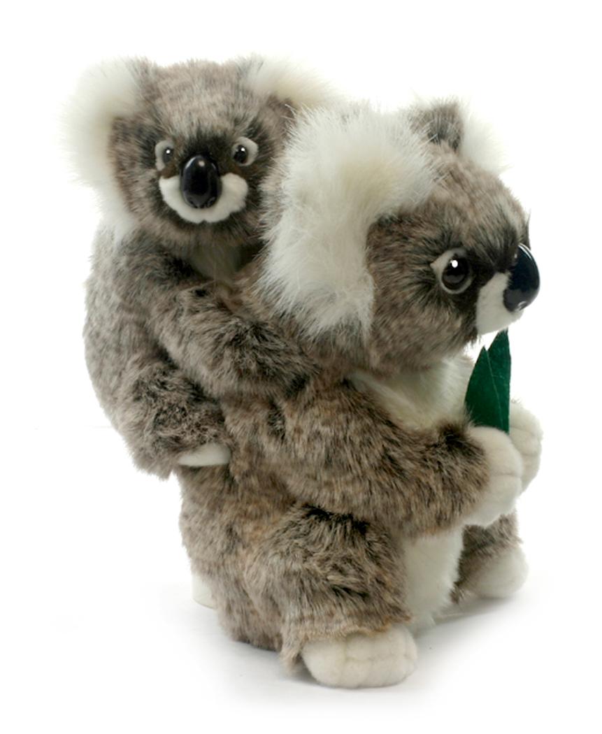 Hansa Мягкая игрушка Коала с детенышем 28 см цена и фото