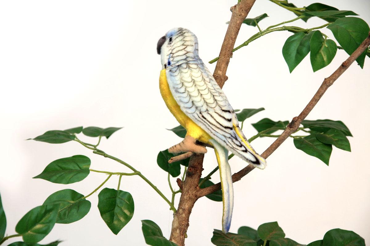 Hansa Мягкая игрушка Попугай волнистый голубой 15 см мягкие игрушки hansa каролинский попугай 17 см