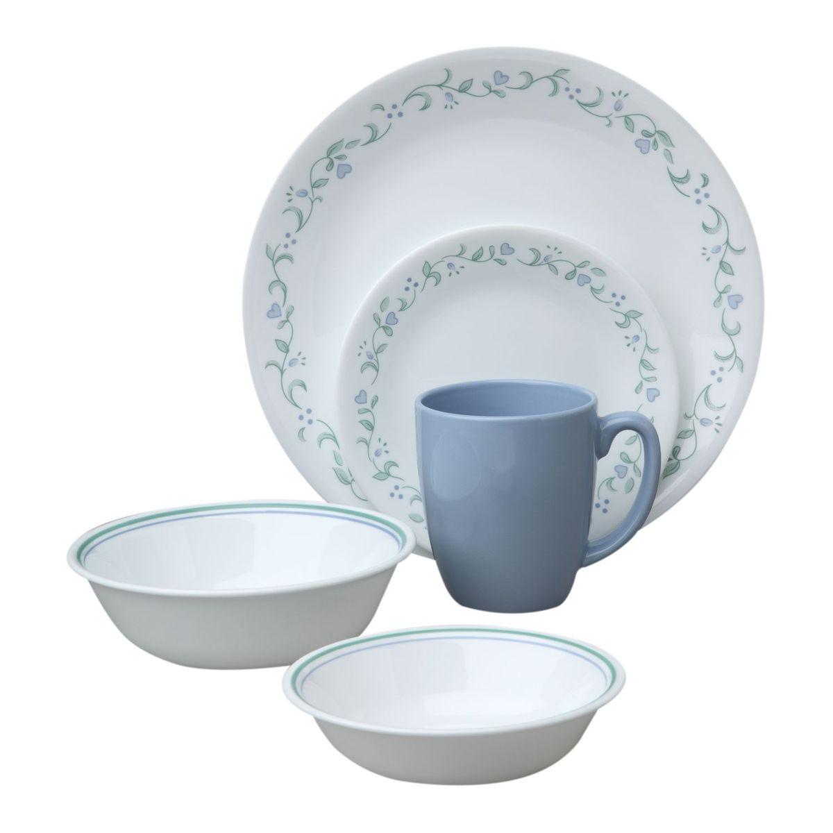 Набор посуды Corelle Country Cottage, цвет: белый, 18 предметов. 1114099