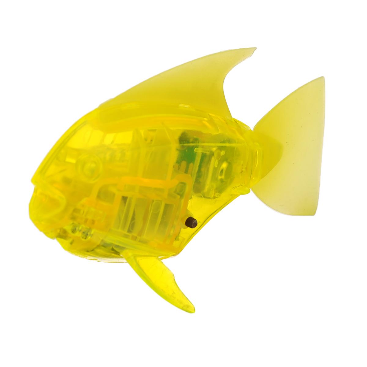 Микро-робот рыбка Hexbug  Aquabot Angelfish , со световыми эффектами, цвет: желтый - Интерактивные игрушки