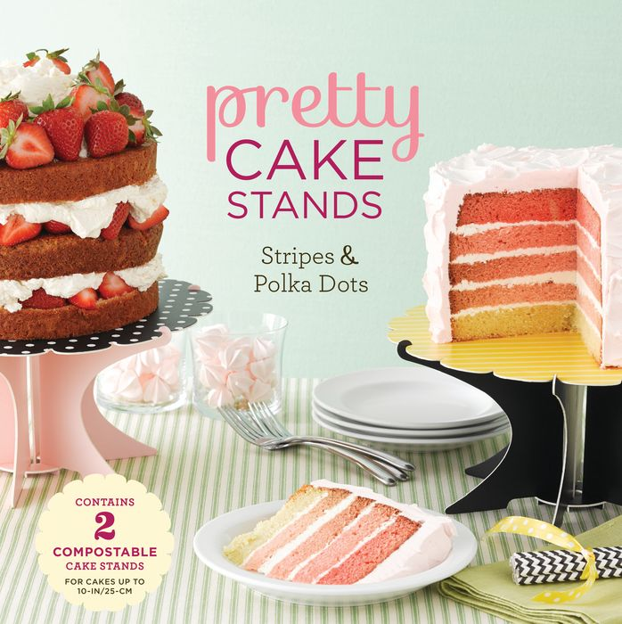 Pretty Cake Stands: Stripes and Polka Dots stands a shadow