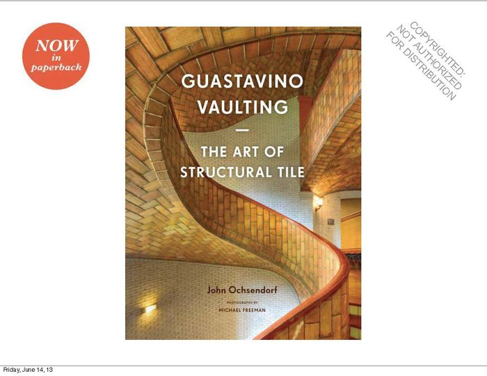 Guastavino Vaulting morais r the hundred foot journey