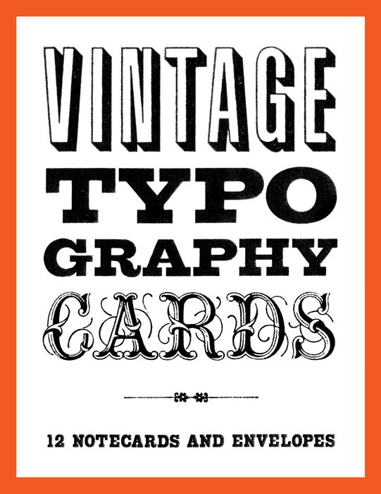 Vintage Typography Notecards masha and friends notecards