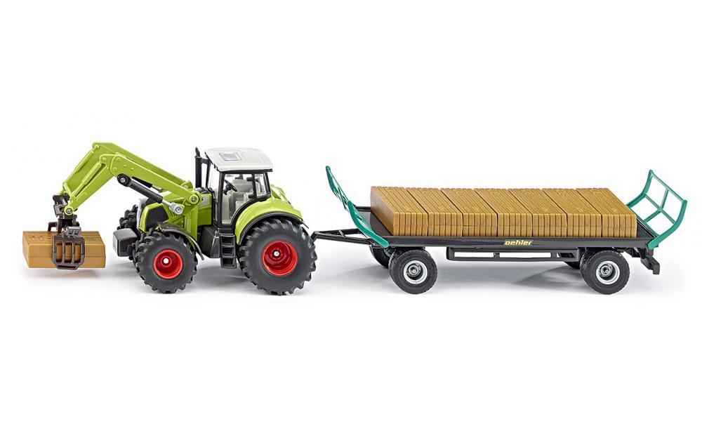 Siku Трактор Claas с прицепом Oehler siku трактор jcb с прицепом