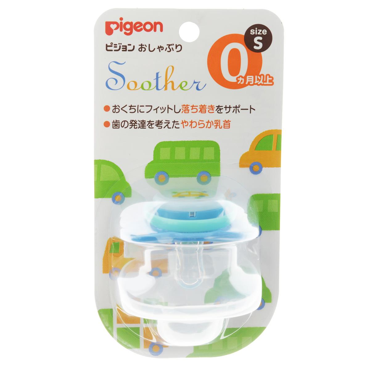 PIGEON Пустышка Машинка 0+ мес (размер S) пустышка пома адаптированной формы из силикона с 4 мес