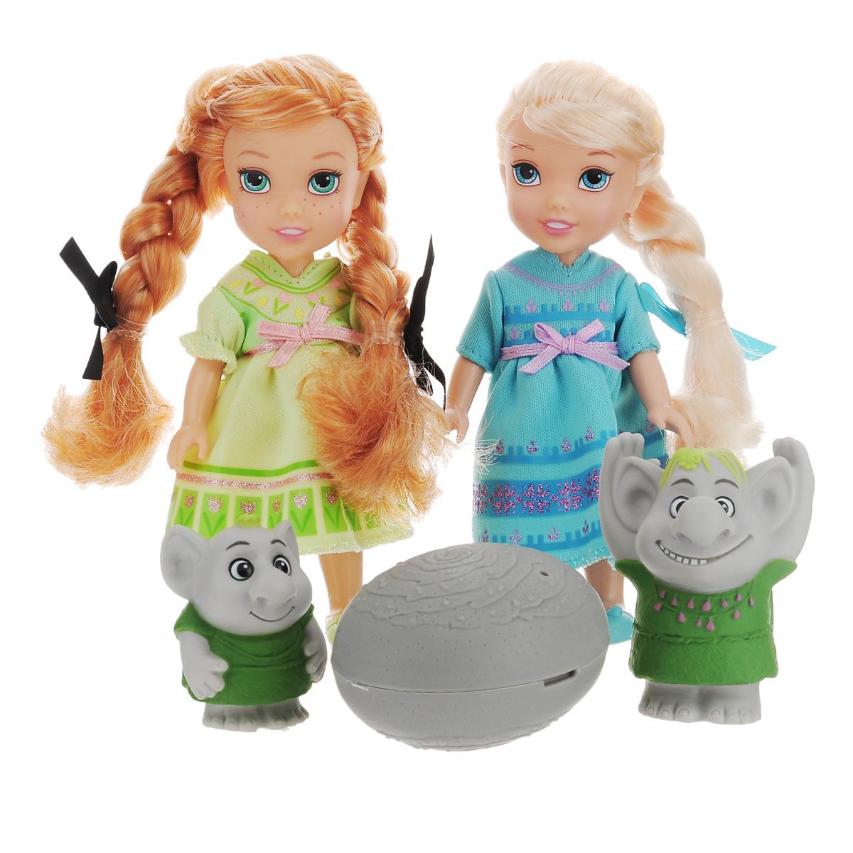 Disney Princess Игровой набор с мини-куклами Холодное Сердце. Эльза, Анна и тролли игровые наборы disney princess игровой набор моана в ассортименте