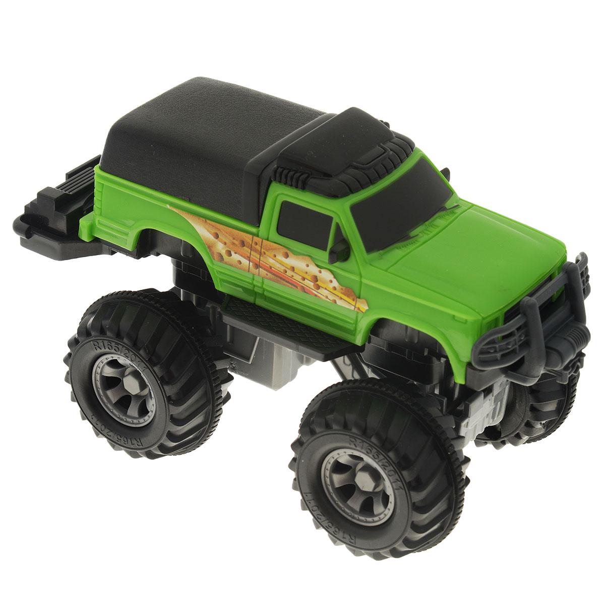 Autotime Машинка Monster Truck, цвет: зеленый. Масштаб 1/32. 10242-00-RUS машинки autotime машина uaz 31514 ваи