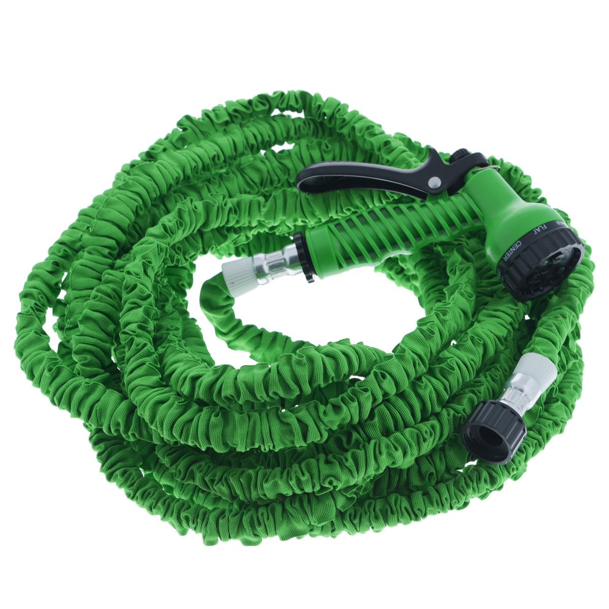 Шланг садовый Mayer & Boch, цвет: зеленый, 15-45 м45-4Садовый шланг Mayer & Boch - это прекрасный шланг, удлиняющийся в 3 раза. Подключите шланг к крану и можете приступать к использованию. Очень легкий вес, что делает шланг еще более удобным в эксплуатации. Внутри шланг выполнен из латекса, снаружи полиэстер. Шланг подходит как для полива рассады, цветов, газонов, так и для мытья машины.Особенности: - удобный и легкий, - растягивается в длину при поступлении воды, - автоматически возвращается в исходный размер, - подключается к стандартным кранам, - не перекручивается, не заламывается, не путается, - гибкий, - удобная сборка, - удлиняется в 3 раза.Распылительные насадки в комплект не входят.Длина шланга без воды: 15 м.Длина шланга при наполнении водой: 45 м.