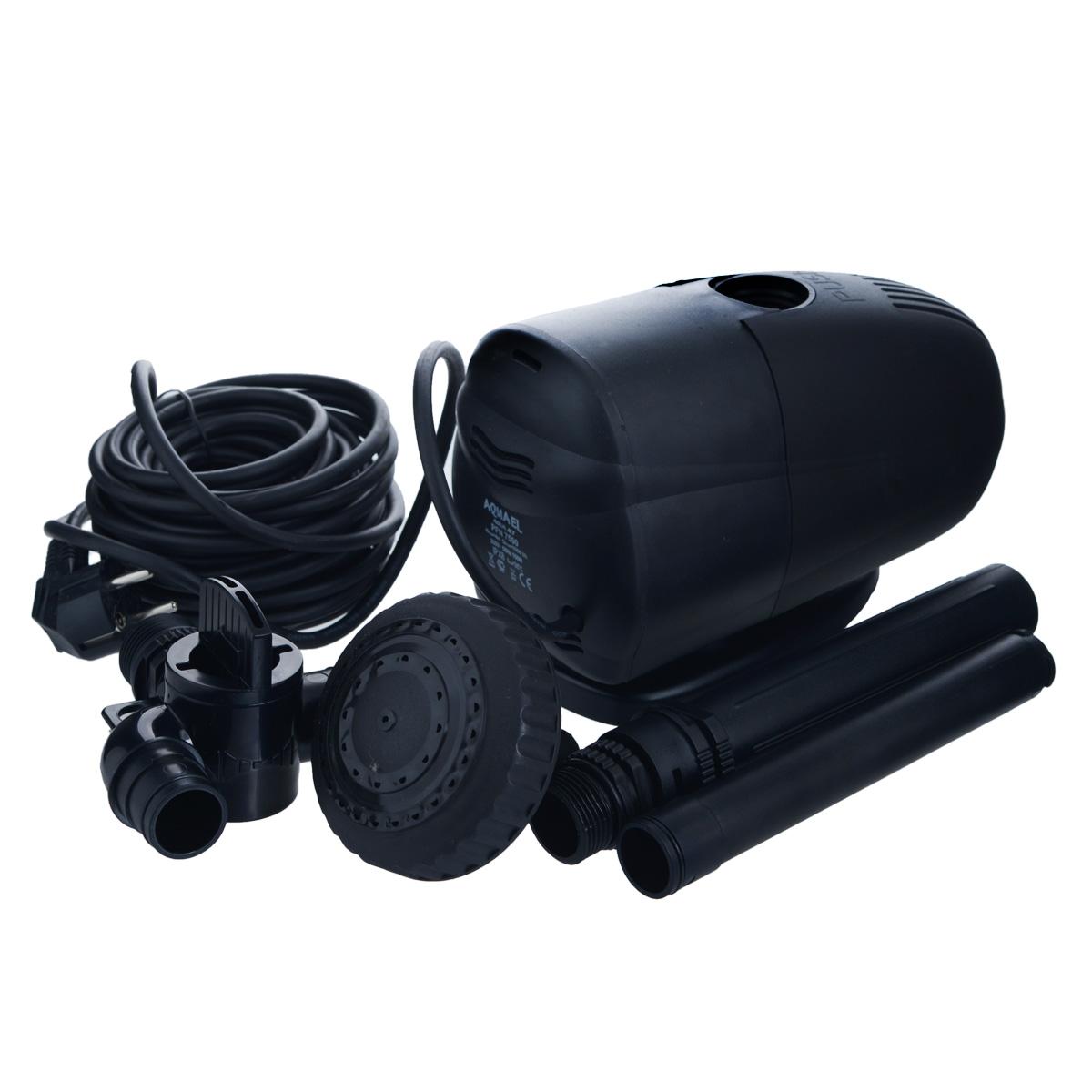 Насос фонтанный Aquael. PFN-7500PFN-7500Насос фонтанный Aquael предназначен для помпования и фильтрации воды в фонтанах, каскадах, водоемах, садовых прудах и приусадебных бассейнах.Может использоваться также в других условиях, например, в садоводстве, в домашнем или сельском хозяйстве, при разведении рыб или животных, на строительных площадках и т.д. Небольшие размеры, значительная производительность и возможность регуляции, а прежде всего, простота конструкции, делает насос универсальным и эффективным. Для расширения возможности фонтана можно использовать дополнительные аксессуары из ассортимента Aquael. Максимальная температура: 35°C.Максимальная высота фонтана: 4 м.Размер насоса: 23 см х 12 см х 14 см.Длина кабеля: 10 м.Мощность: 7000 л/ч.