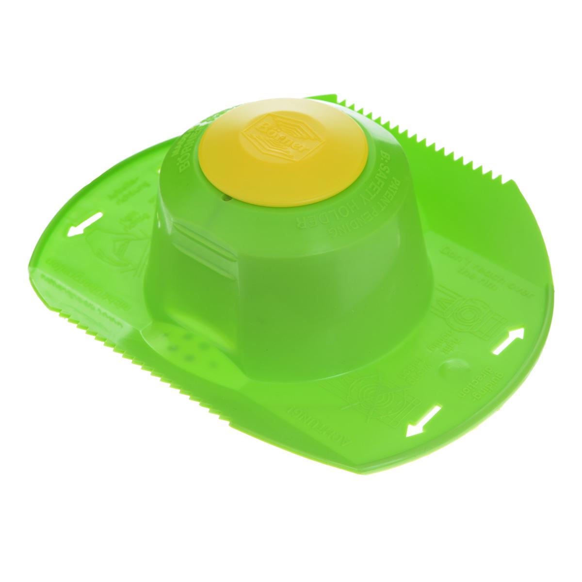 Плододержатель Borner, цвет: зеленый3290051Пластиковый плододержатель Borner необходим для 100% нарезки продукта до конца и защиты рук. Шапочка-держатель обязательно входит во все комплекты овощерезок, а также в комплектацию стальных четырехгранных терок. Кроме того, плододержатель продается отдельно. Рекомендуется покупать его для работы со всеми видами терок и овощерезок любого производства.Размер: 15 см х 12 см х 4 см.