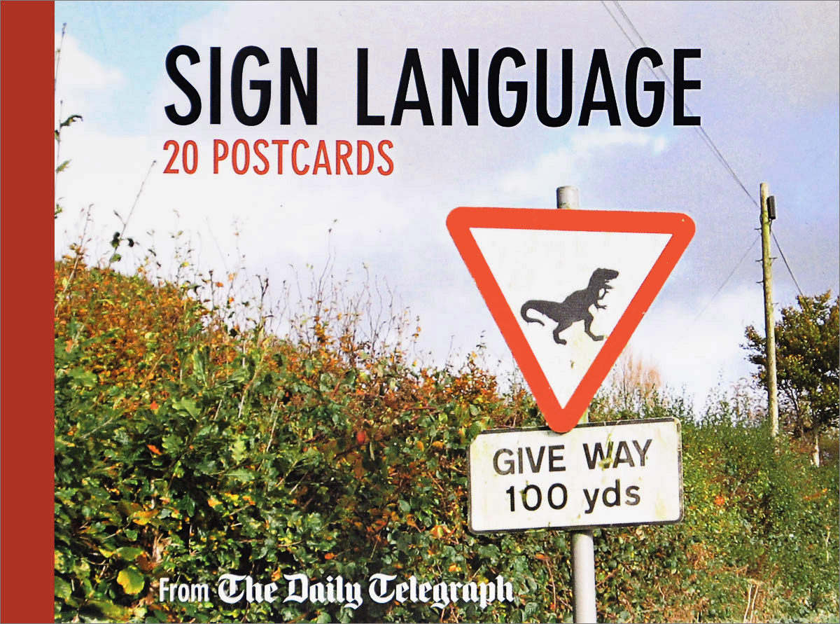 The Daily Telegraph Sign Language Postcard Book: 20 Postcards 30pcs in one postcard owe you a song romantic love christmas postcards greeting birthday message cards 10 2x14 2cm