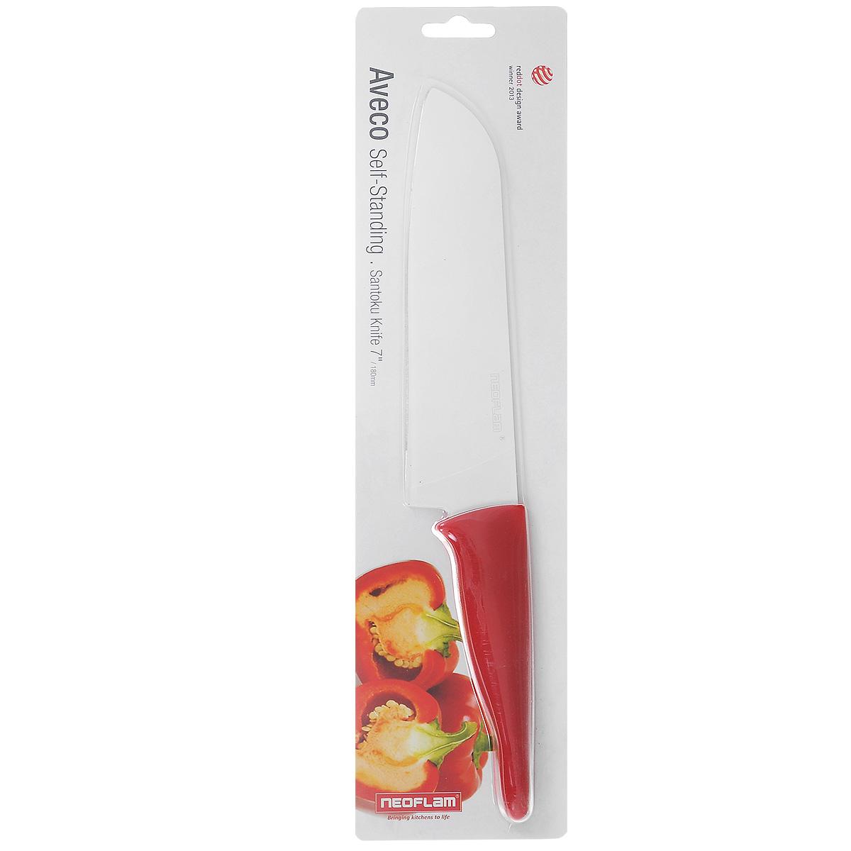 Нож поварской Neoflamt Aveco, цвет: белый, красный, 18 смCK-AP-T18Нож Neoflamt Aveco идеально подходит для резки мяса и рыбы, фруктов и овощей. Лезвие ножа изготовлено из стали, с керамическим покрытием.Уникальная технология двойного закаливания лезвия и оригинальный дизайн сделают такой нож отличным кухонным помощником.Процесс резки происходит плавно и легко. Нож не оставляет после себя запаха и послевкусия стали, что позволяет полностью сохранить свежесть продуктов. Нож устойчив к появлению пятен и коррозии. Лезвие ножа обладает антибактериальными свойствами.Длина лезвия: 18 см.Общая длина ножа: 32 см.