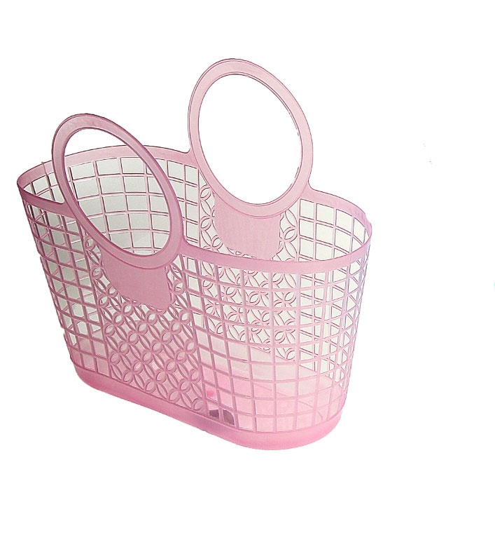 Корзина для мелочей, 31 см х 15 см х 16 см, цвет: розовый. 848399848399Универсальная корзинка подходит для хранения бытовых принадлежностей, косметики, рукоделия, предметов гигиены и других мелочей. Поможет правильно организовать пространство в доме и сэкономить место. Имеет удобную ручку для переноски.
