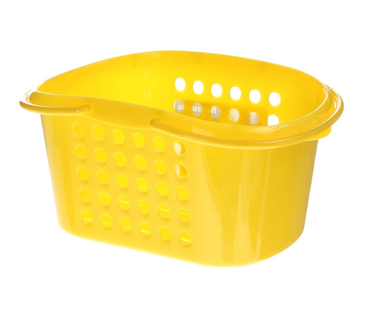 Корзинка универсальная Бытпласт, с ручками, цвет: желтый, 23 см х 17,5 см х 11,5 см847544;847544;847544;847544Универсальная корзинка Бытпласт изготовлена из высококачественного пищевого пластика и предназначена для хранения и транспортировки вещей. Корзинка подойдет как для пищевых продуктов, так и для ванных принадлежностей и различных мелочей. Изделие оснащено двумя ручками для более удобной транспортировки. Основание и стенки корзинки оформлены перфорацией, что обеспечивает естественную вентиляцию. Универсальная корзинка Бытпласт позволит вам хранить вещи компактно и с удобством. Размер корзинки: 23 см х 17,5 см х 11,5 см.