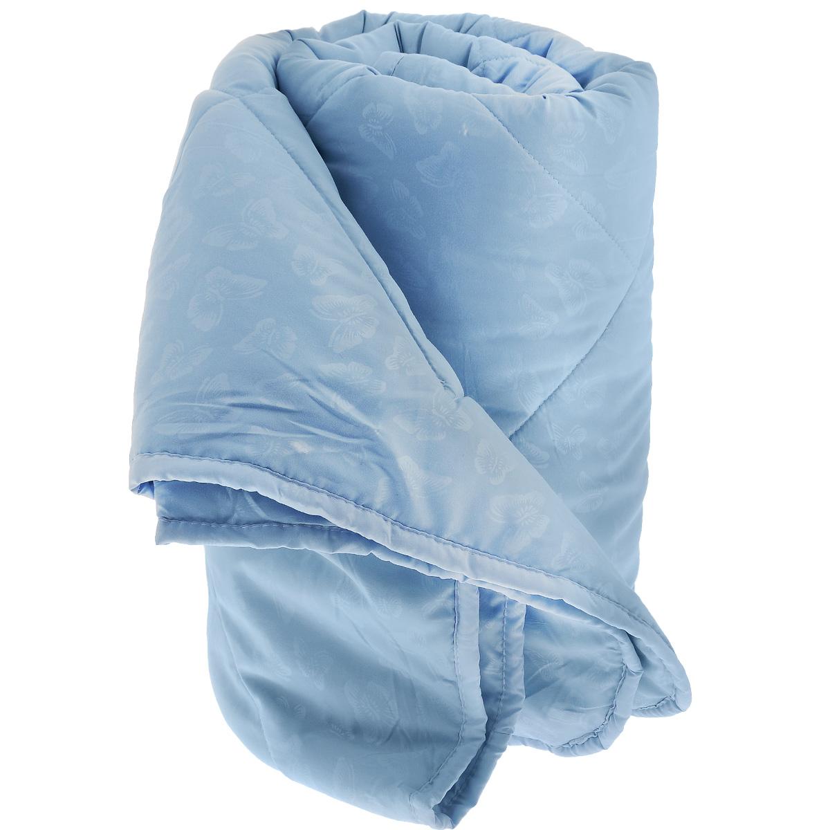 Одеяло La Prima В нежности микрофибры, наполнитель: полиэфирное волокно, цвет: голубой, 170 см х 205 см857/0222945/100/949Одеяло La Prima В нежности микрофибры очень легкое, воздушное и одновременно теплое. Идеально подойдет тем, кто ценит мягкость и тепло. Такое изделие подарит комфортный сон. Благодаря особой структуре микроволокна, изделие приобретают дополнительную мягкость и надолго сохраняют свой первоначальный вид. Чехол одеяла выполнен из шелковистой микрофибры, оформленной изящным фактурным теснением в виде бабочек. Наполнитель - полиэфирное волокно - холлотек. Изделие обладает высокой воздухопроницаемостью, прекрасно сохраняет тепло. Оно гипоаллергенно, очень практично и неприхотливо в уходе. Ручная стирка при температуре 30°С. Материал чехла: 100% полиэстер - микрофибра.Наполнитель: полиэфирное волокно - холлотек. Размер: 170 см х 205 см.