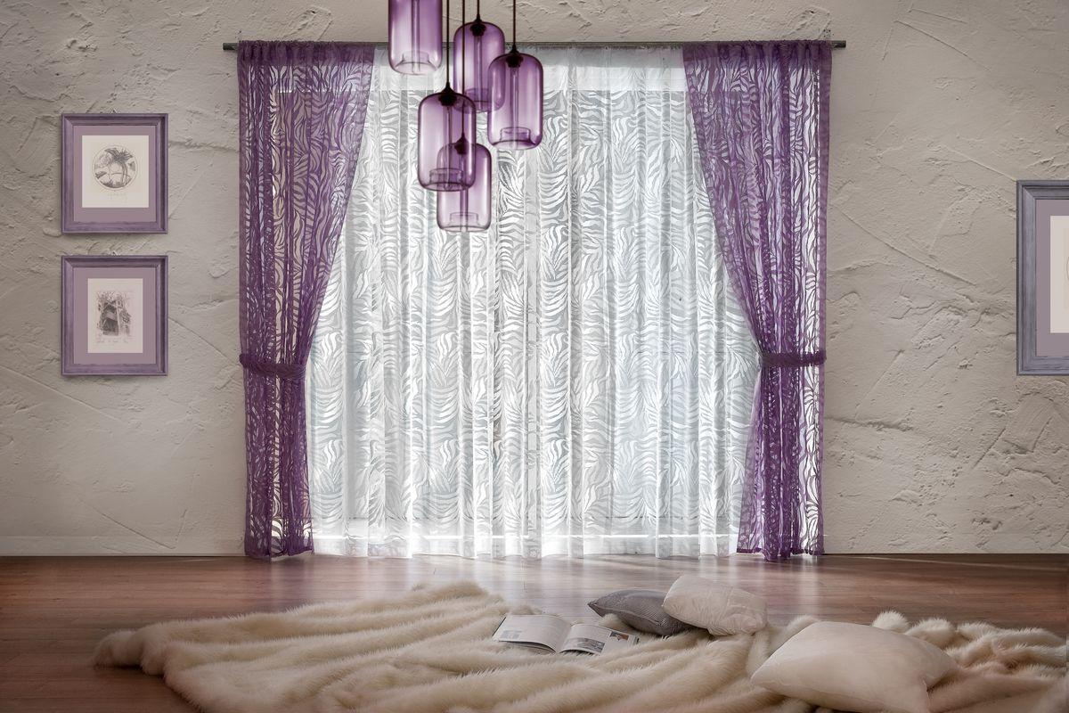 Комплект штор Wisan, цвет: сирень, высота 250 см. 078W шторы wisan классические шторы гражиана цвет золотистый