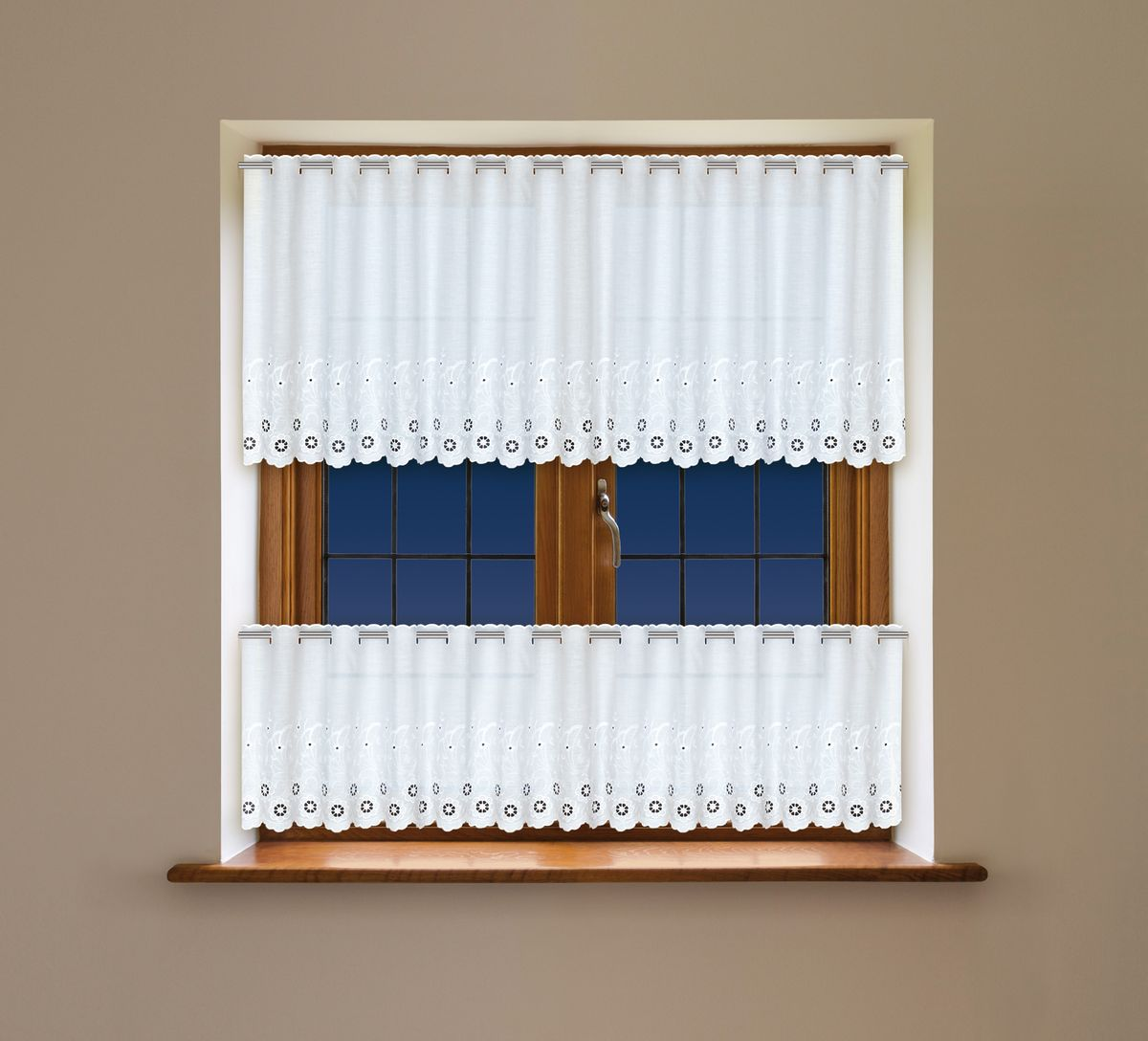 Комплект гардин Haft, на ленте, цвет: белый, 2 шт. 203400