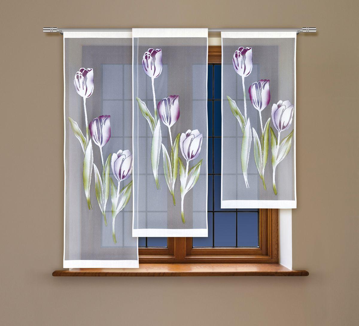 Комплект гардин-панно Haft, цвет: белый, высота 160 см. 213420
