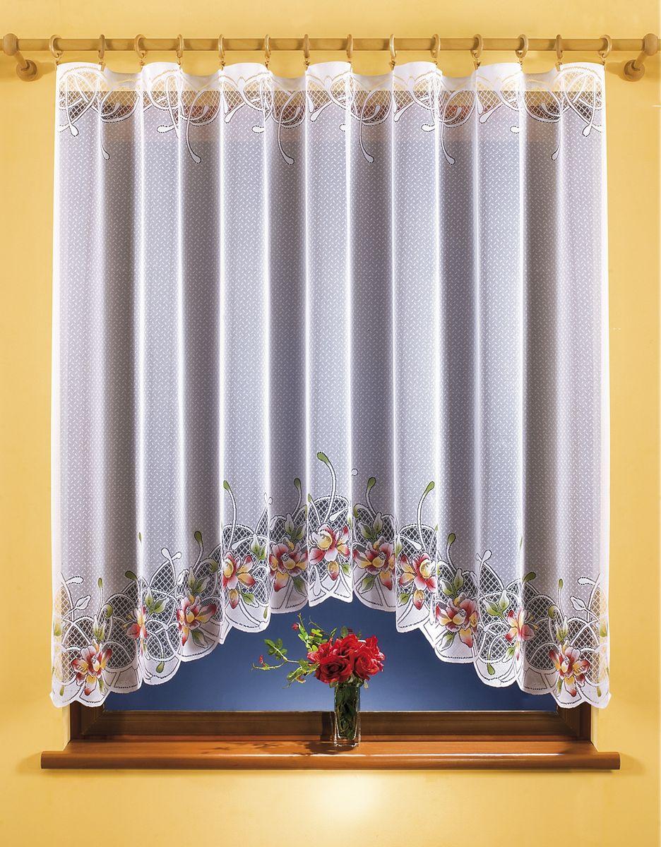 Гардина Wisan, цвет: белый, высота 150 см. 9936С 537227 V2Гардина Wisan, выполненная из легкого полиэстера, станет великолепным украшением окна в спальне, кухне или гостиной.Качественный материал, тонкое плетение и оригинальный дизайн привлекут к себе внимание и позволят гардине органично вписаться в интерьер помещения. Гардина оснащена шторной лентой под зажимы для крепления на карниз.