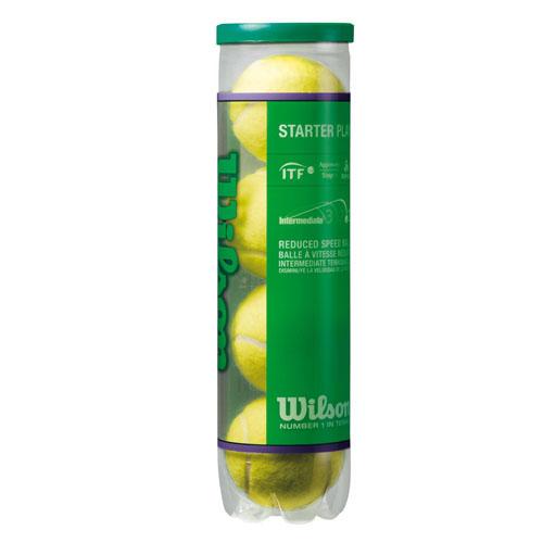 Мячи теннисные Wilson Starter Play Green, 4 штWRT137400Большие теннисные мячи Wilson Starter Play Green с низким давлением. Отскакивают на 25% медленнее стандартного теннисного мяча. Предназначены для 1-го зеленого уровня программы 10S. Мячи одобрены международной теннисной федерацией.