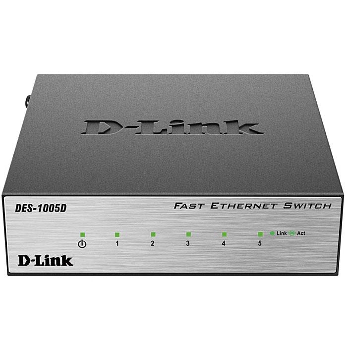 D-Link DES-1005D/O2B коммутаторDES-1005D/O2B5-портовый (DES-1005D) и 8-портовый (DES-1008D) коммутаторы D-Link с поддержкой функции plug-and-play являются экономически выгодным решением для сетей SOHO, а также для небольшого бизнеса. Коммутатор оснащен 5/8 портами 10/100 Мбит/с, которые позволяют легко расширить сеть или обновить существующую.Быстрая и надежная организация сетиБлагодаря высокой скорости передачи данных (до 200 Мбит/с) в режиме полного дуплекса, коммутаторы D-Link DES-1005D/1008D является идеальным решением для быстрой передачи файлов, игр в режиме онлайн и потоковой передачи данных без задержек. Ethernet-порты находятся на передней панели коммутатора, что облегчает доступ к ним, а индикаторы двух цветов для каждого порта помогают легко определить состояние соединения. Кроме того, коммутатор оснащен слотом для кенсингтонского замка на задней панели, который позволяет надежно прикрепить устройство к полке или столу. Экономия электроэнергииКоммутаторы DES-1005D и DES-1008D поддерживают технологию D-Link Green, обеспечивающую экономию электроэнергии, низкий уровень тепловыделения и увеличение срока эксплуатации без влияния на производительность и функциональные характеристики. Коммутаторы поддерживают технологию IEEE 802.3az Energy-Efficient Ethernet (EEE), с помощью которой можно определить, когда подсоединенный компьютер выключен, или когда отсутствует Ethernet-трафик, и, соответственно, отключить питание на неактивных портах, что позволяет экономить значительное количество энергии. Кроме того, коммутатор способен регулировать потребление электроэнергии, определяя длину подключенного к порту кабеля. Обе эти функции работают вместе для автоматического сохранения энергии. Забота об окружающей средеКоммутаторы DES-1005D и DES-1008D разработаны с учетом требований защиты окружающей среды, в соответствии со стандартом EnergyStar Level V и постановлениями CEC и MEPS, требующими использования адаптеров питания, сокращающих энергопотребление. Коммутатор также