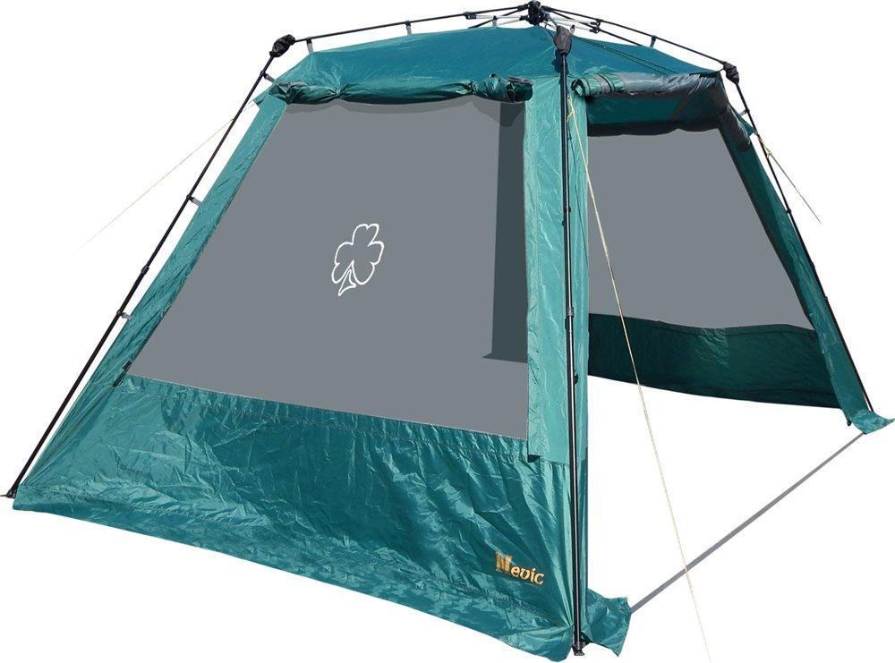 Тент-шатер GREENELL Невис, полувтоматический, цвет: зеленый палатки greenell палатка дом 2