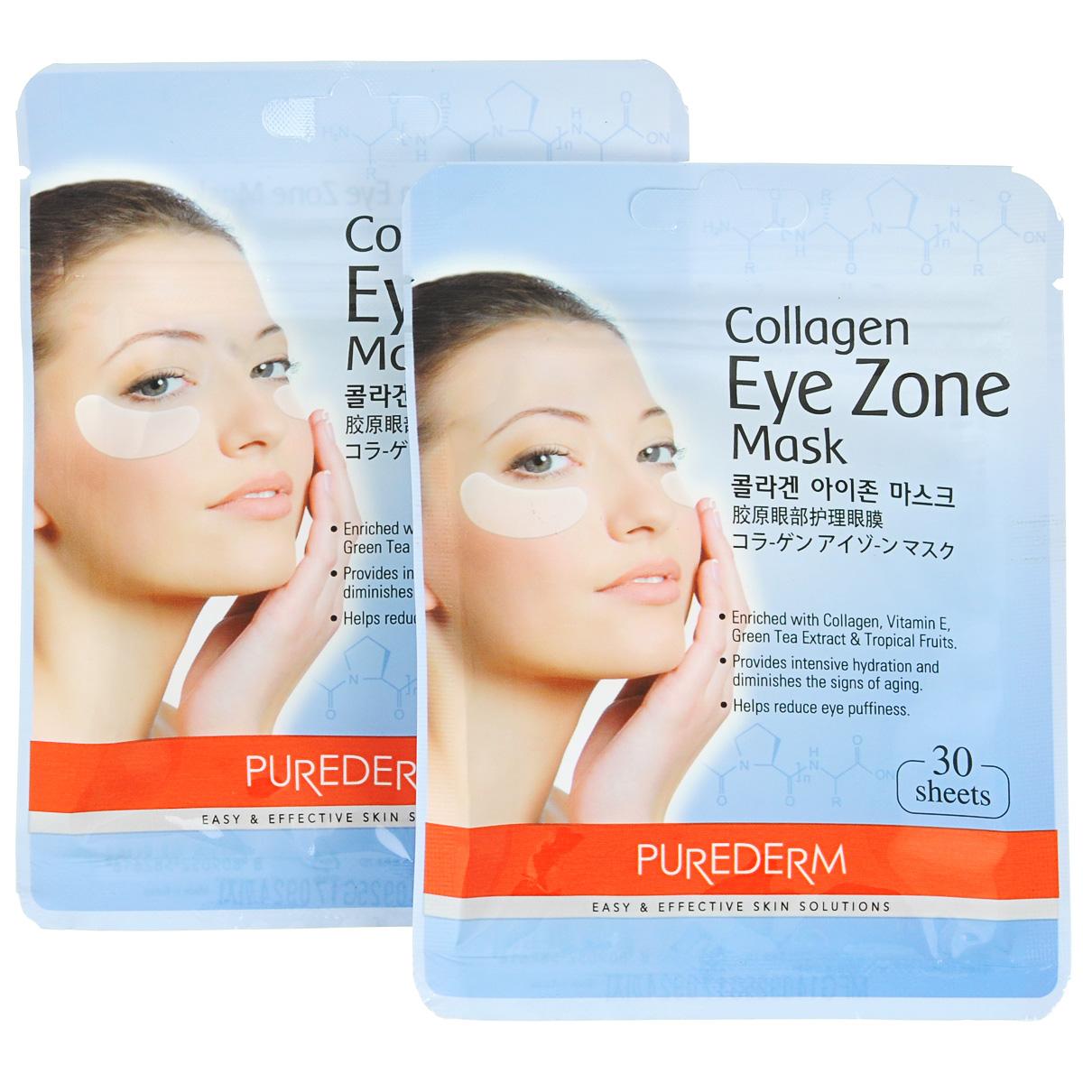 Purederm Коллагеновая маска для области вокруг глаз, 2 х 25 г6242Purederm Collagen Eye Zone Mask - патчи для области вокруг глаз на основе фито-коллагена, витамина Е, экстракта зеленого чая и тропических фруктов. Патчи способствуют интенсивному увлажнению нежной кожи век, уменьшают следы возраста, освежают взгляд, помогают уменьшить темные круги под глазами и снять отеки и припухлости. Возраст женщины написан у нее во взгляде! Как мы прекрасно выглядим, когда высыпаемся: взгляд свежий и ясный, прекрасный цвет лица и великолепное настроение! Но, к сожалению, удается это большинству женщин нечасто. Как хорошо, что существуют такие помощники, как Purederm Collagen Eye Zone Mask! Всего 10 минут утром и свежий и ясный взгляд нам обеспечен, особенно учитывая пользу для кожи и пролонгированный результат. С первого применения область под глазами заметно светлеет, разглаживается, припухлости исчезают. Очень удобно, проснувшись утром, заварить свежий ароматный чай, нанести патчи под глаза и получить двойное удовольствие от бодрящего напитка, охлаждающего действия патчей и результата, который вы получите, когда закончите ваш завтрак - свежий и ясный взгляд, никаких отеков и нежная гладкая кожа. Подходит для всех типов кожи.