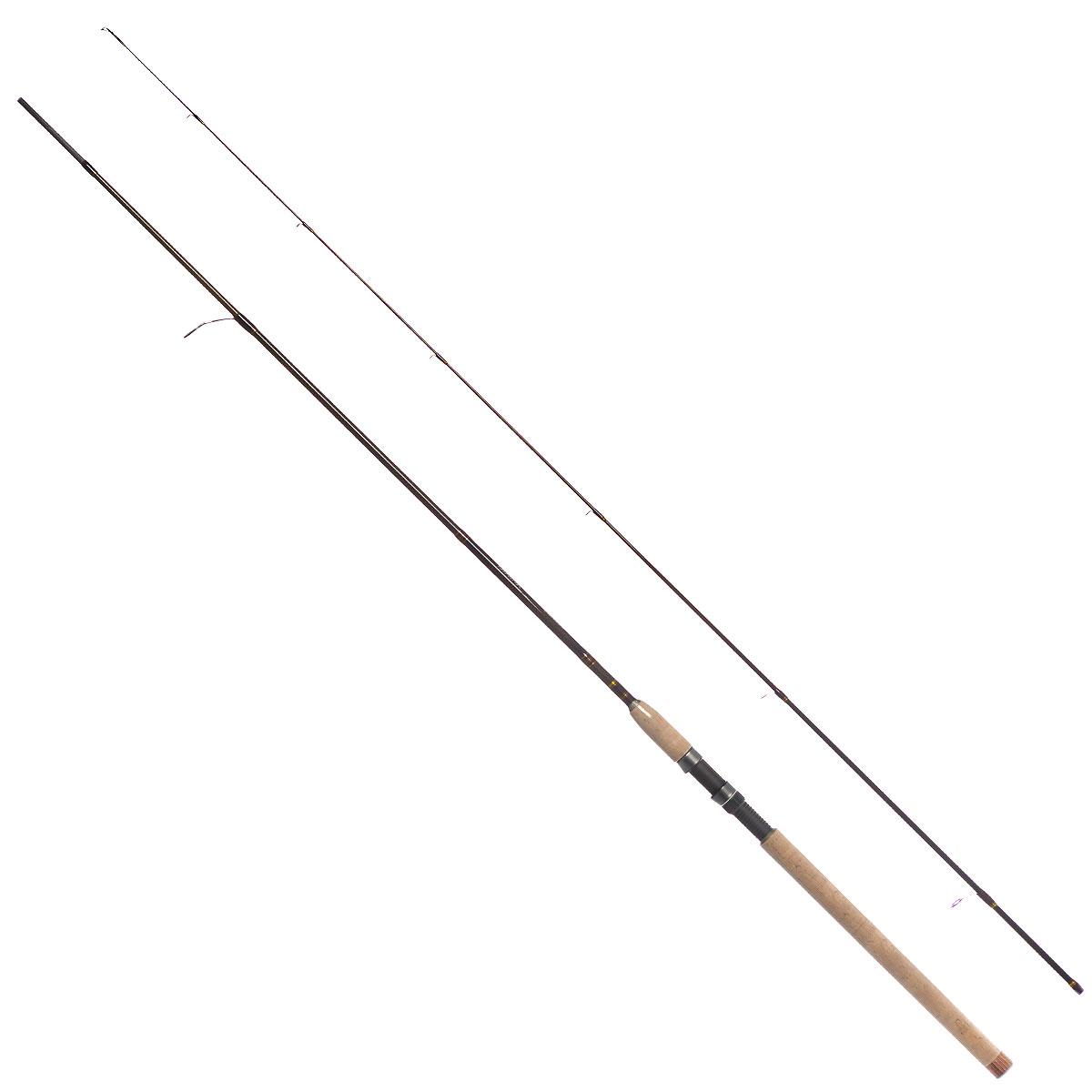 Удилище спиннинговое Daiwa New Exceler, штекерное, цвет: темно-коричневый, 2,4 м, 2-10 г удилище daiwa exceler ru 902mhfs 2 74m