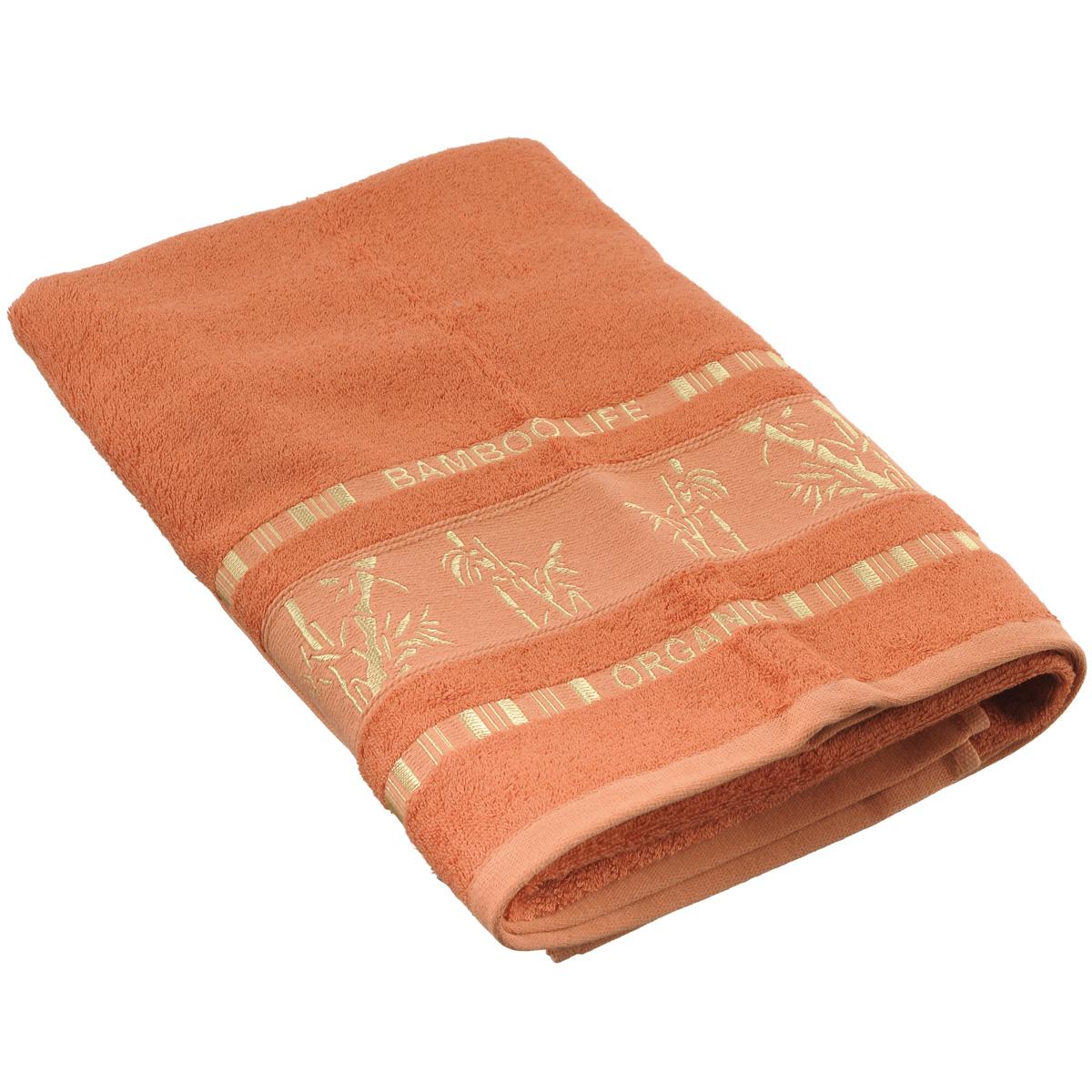 Полотенце Mariposa Bamboo, цвет: бронзовый, 70 х 140 см50838Полотенце Mariposa Bamboo, изготовленное из 60% бамбука и 40% хлопка, подарит массу положительных эмоций и приятных ощущений.Полотенца из бамбука только издали похожи на обычные. На самом деле, при первом же прикосновении вы ощутите невероятную мягкость и шелковистость. Таким полотенцем не нужно вытираться - только коснитесь кожи - и ткань сама все впитает! Несмотря на богатую плотность и высокую петлю полотенца, оно быстро сохнет, остается легким даже при намокании.Полотенце оформлено изображением бамбука. Благородный тон создает уют и подчеркивает лучшие качества махровой ткани. Полотенце Mariposa Bamboo станет достойным выбором для вас и приятным подарком для ваших близких.Размер полотенца: 70 см х 140 см.