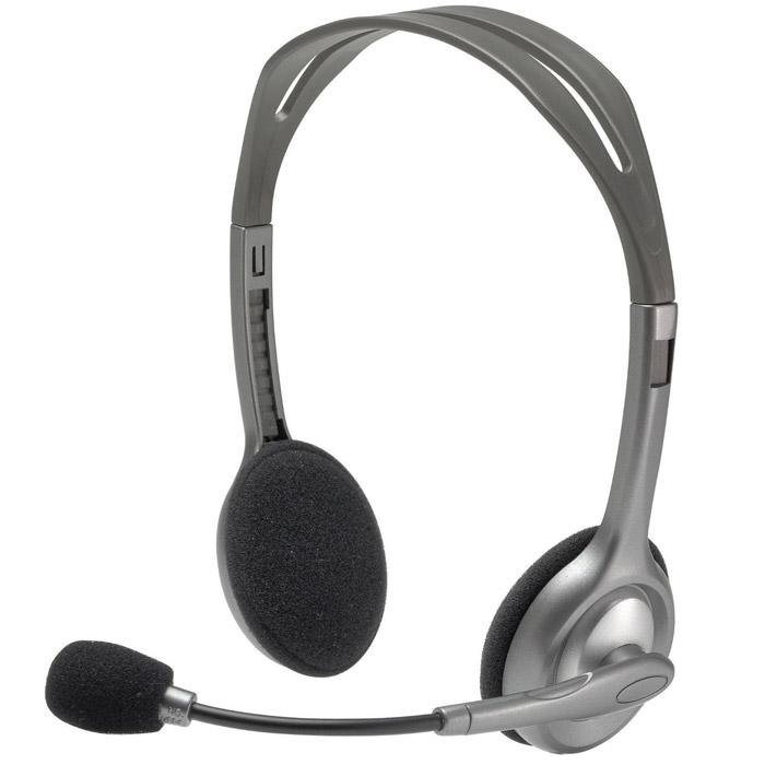 Logitech H110 Stereo Headset гарнитура (981-000271)981-000271Благодаря функции шумоподавления микрофона и стереозвучанию эта универсальная гарнитура Logitech Stereo Headset H110 поможет начать общаться с друзьями в Интернете.Микрофон с функцией шумоподавленияГибкий поворотный держательРегулируемое оголовьеНасыщенный стереозвукУниверсальная конструкция