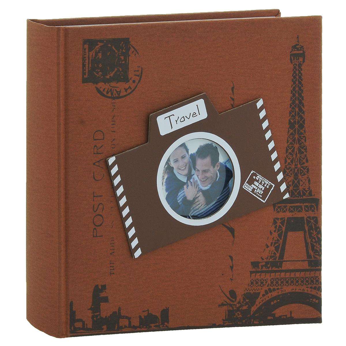 Фотоальбом Image Art Travel Abroad, 200 фотографий, цвет: коричнево-красный, 10 x 15 см