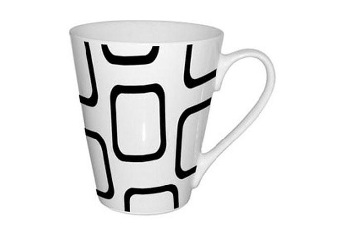 Кружка Shenzhen Moreroll Геометрия, 310 мл, цвет: белый, черный. MR-0611-4MR-0611-4Кружка Геометрия, выполненная из высококачественного фарфора, декорирована изображением геометрических фигур. Изделие оснащено удобной ручкой. Кружка сочетает в себе оригинальный дизайн и функциональность. Благодаря такой кружке пить напитки будет еще вкуснее. Кружка Геометрия согреет вас долгими холодными вечерами. Можно использовать в посудомоечной машине и микроволновой печи. Объем: 310 мл.Диаметр (по верхнему краю): 9 см.Высота кружки: 10 см.