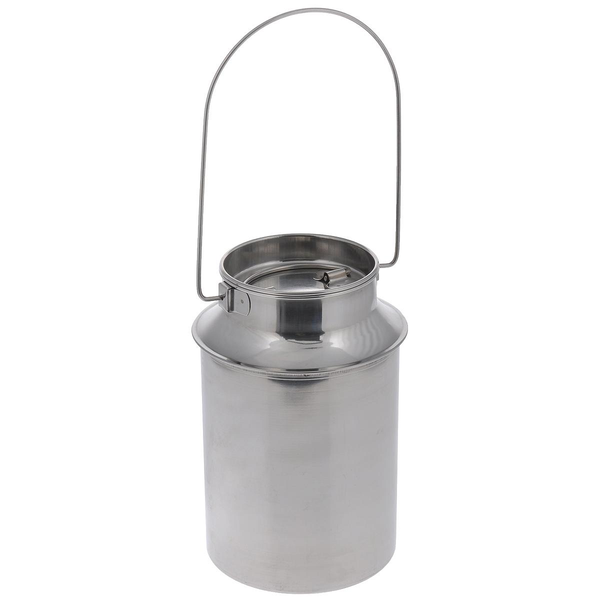 Бидон Padia, 3 л. 6100-226100-22Бидон Padia предназначен для хранения и переноски пищевых продуктов, таких как молоко, вода и т.д. Изделие выполнено из высококачественной нержавеющей стали. Бидон оснащен ручкой для удобной переноски и крышкой.Бидон Padia станет незаменимым аксессуаром на вашей кухне.Объем: 3 л. Высота бидона (без учета ручки): 24 см. Диаметр дна: 16,5 см. Диаметр (по верхнему краю): 12,5 см.