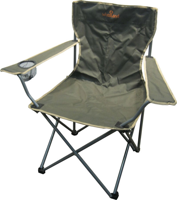 Кресло складное Woodland Holiday, 52 см х 52 см х 89 см0036496Складное кресло Woodland Holiday предназначено для создания комфортных условий в туристических походах, охоте, рыбалке и кемпинге.Особенности:Компактная складная конструкция.Прочный стальной каркас с покрытием, диаметр 16 мм.Выполнено из прочного ПВХ с водоотталкивающим покрытием Oxford 600D.