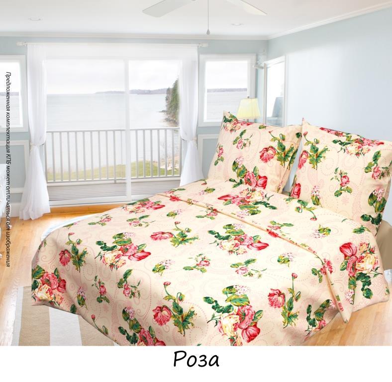 Постельное белье Олеся Роза, семейное, наволочки 70х70, цвет: на бежевом фоне. 20501156402050115640