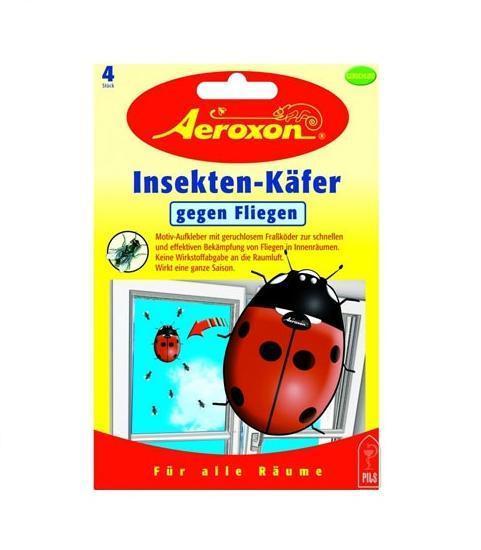 Декоративная приманка Aeroxon Божья коровка для ловли мух, 4 шт ловушка aeroxon для одежной моли 2 шт