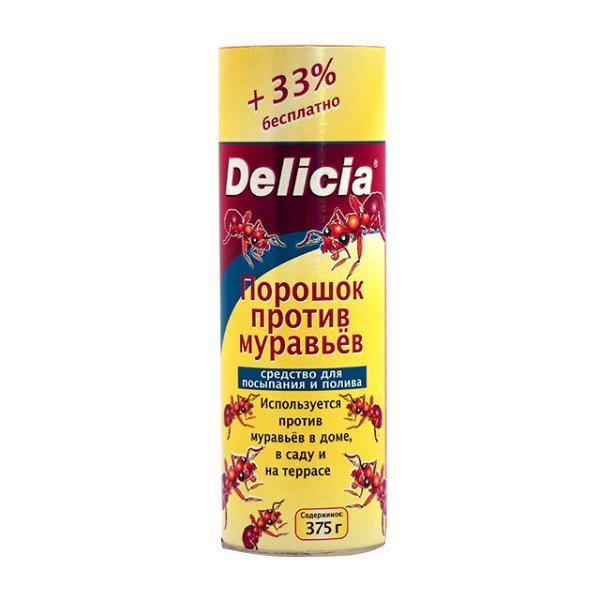 Порошок против муравьев Delicia, 375 г1558-757Порошок Delicia используется против муравьев в доме, саду и на террасе. Средство может применяться как для посыпания, так и для полива. Муравьи переносят порошок в свое гнездо, где он поедается муравьиной королевой и подрастающим потомством. Коме того, порошок обладает контактным действием.Действующее вещество: 10 г/кг хлорпирифос. Противоядие: атропин + токсогонин (при врачебном контроле).Вес: 30 г.Товар сертифицирован.