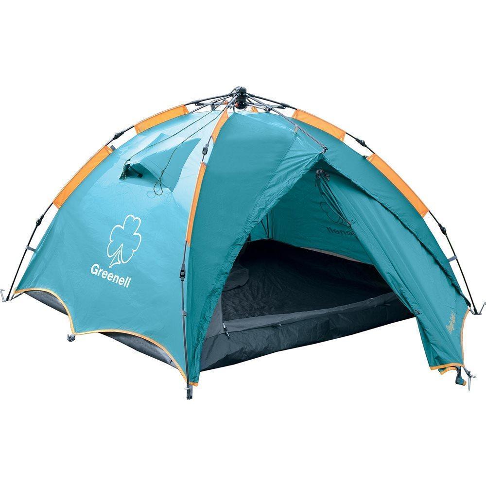Палатка GREENELL Дингл Лайт 3, цвет: зеленый95467-325-00Облегченный вариант очень популярной полуавтоматической палатки Дингл. Вместительность составляет три человека. Имеет удобный полуавтоматический каркас. Отличная вентиляция обеспечивается за счет внутренней палатки, которая выполнена полностью из москитной сетки, специального кроя тента и вентиляционных каналов в тенте палатки. Все швы проклеены. Палатка имеет два входа и просторный тамбур. Внутри есть подвесная полка и карман для мелочей. Что взять с собой в поход?. Статья OZON Гид