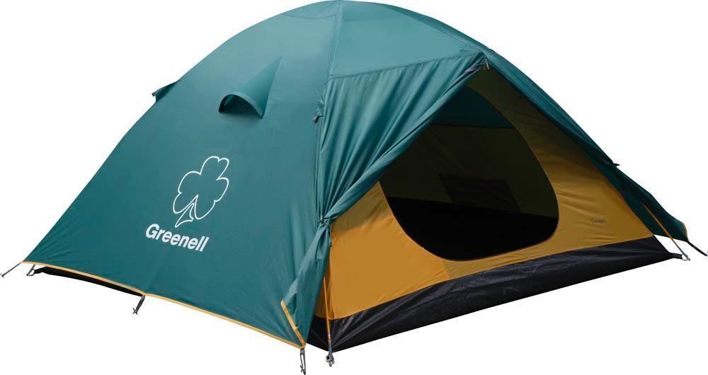 Палатка GREENELL Гори 4, цвет: зеленый25403-303-00Универсальная четырехместная палатка для путешествий. Мобильно, комфортно, удобно! Два входа и два тамбура. Проточная вентиляция.Что взять с собой в поход?. Статья OZON Гид