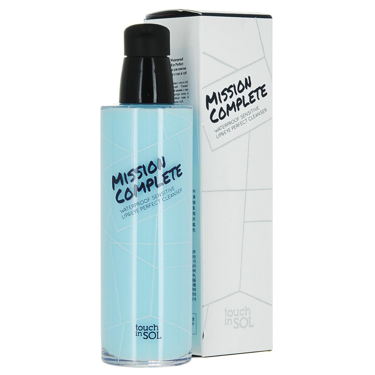 Touch in SOL Средство для снятия стойкого макияжа с глаз и губ Waterproof Sensitive Lip&Eye Perfect Cleanser, 100 млУТ000001038Средство для снятия макияжа с глаз и губ, особенно для любителей Смоки макияжа . Удалит тяжелый макияж с глаз в два счета. Гелевая текстура легко и быстро смывает водостойкую тушь и супер стойкие помады и тинты с губ.