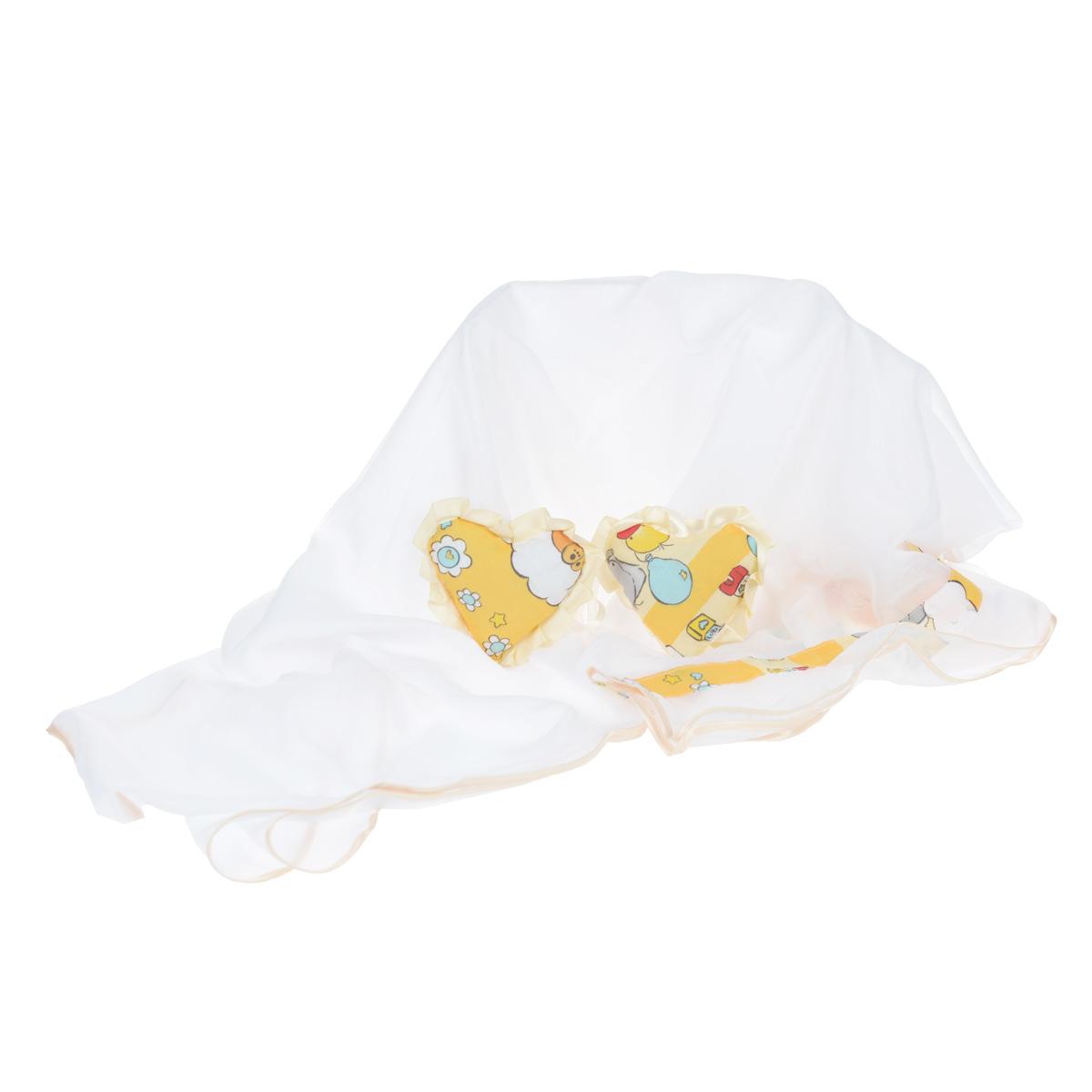 Балдахин  Фея , цвет: бежевый, желтый, 250 см х 150 см -  Бортики, бамперы