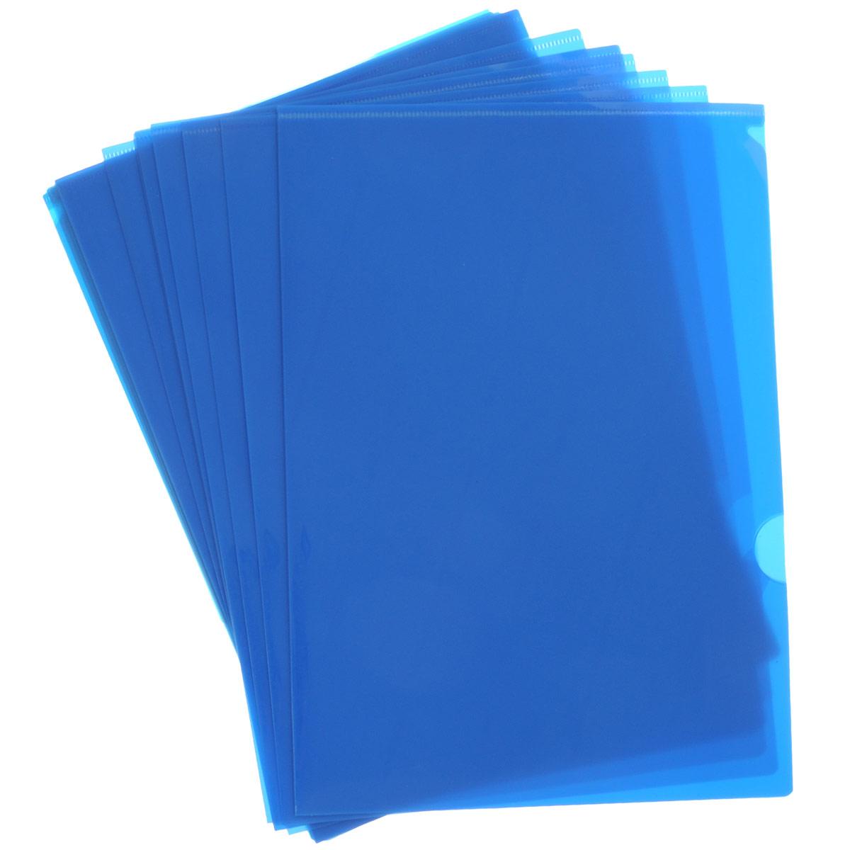 Папка-уголок Sponsor, цвет: синий. Формат А4, 20 штSF208-2/BU/RПапка-уголок Sponsor, изготовленная из высококачественного полипропилена, это удобный и практичный офисный инструмент, предназначенный для хранения и транспортировки рабочих бумаг и документов формата А4. Полупрозрачная глянцевая папка имеет опрятный и неброский вид. В наборе - 20 папок.Папка-уголок - это незаменимый атрибут для студента, школьника, офисного работника. Такая папка надежно сохранит ваши документы и сбережет их от повреждений, пыли и влаги.Комплектация: 20 шт.