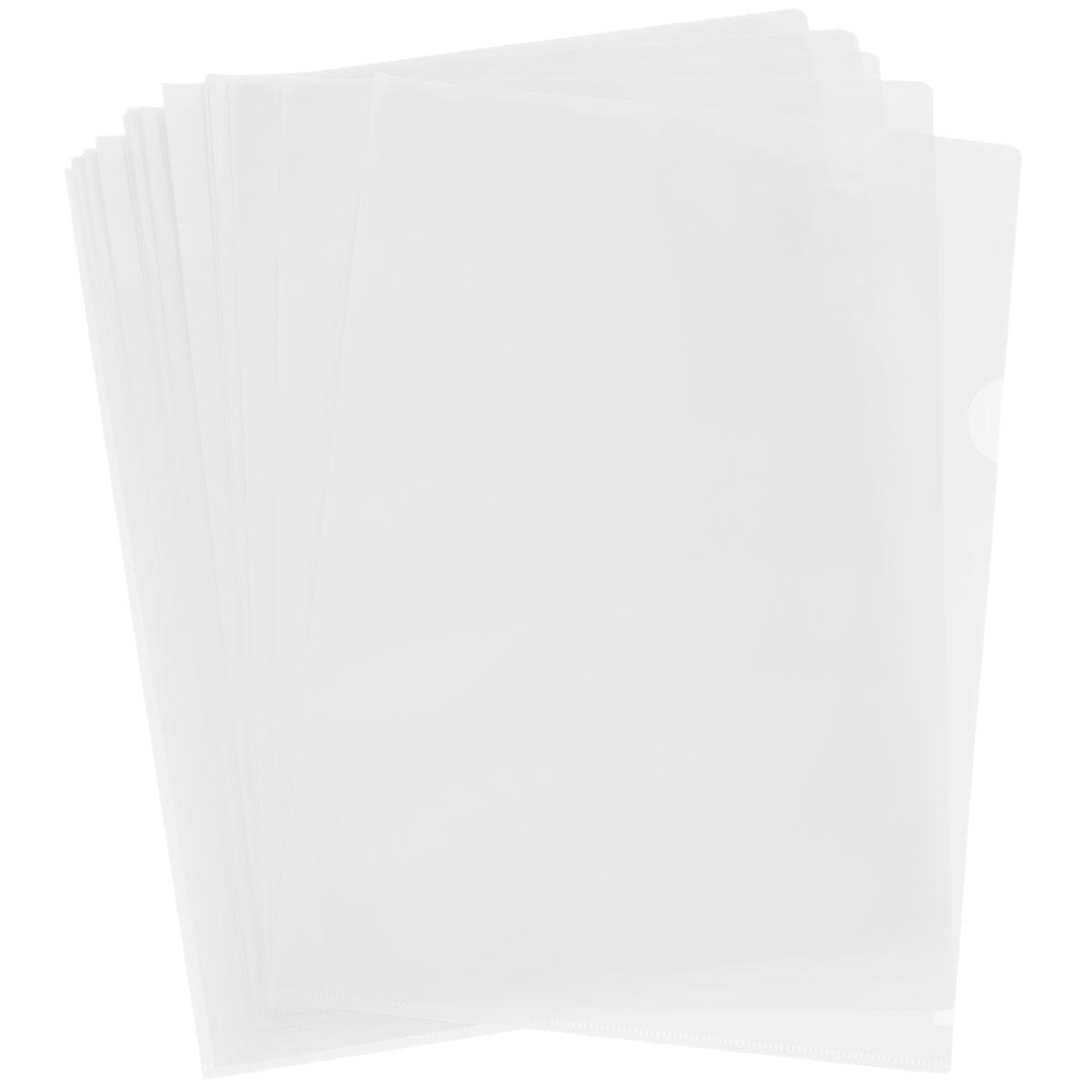 Папка-уголок Sponsor, цвет: прозрачный. Формат А4, 20 штSF208-2/TR/RПапка-уголок Sponsor, изготовленная из высококачественного полипропилена, это удобный и практичный офисный инструмент, предназначенный для хранения и транспортировки рабочих бумаг и документов формата А4. Полупрозрачная глянцевая папка имеет опрятный и неброский вид. В наборе - 20 папок.Папка-уголок - это незаменимый атрибут для студента, школьника, офисного работника. Такая папка надежно сохранит ваши документы и сбережет их от повреждений, пыли и влаги.Комплектация: 20 шт.