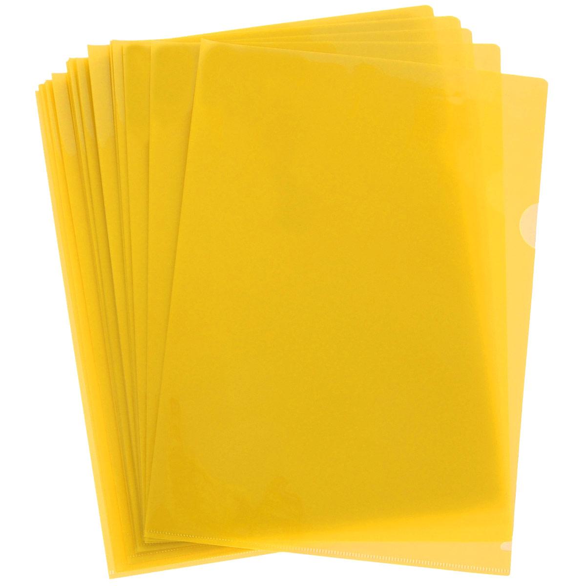 Папка-уголок Sponsor, цвет: желтый. Формат А4, 20 штSF208-2/YL/RПапка-уголок Sponsor, изготовленная из высококачественного полипропилена, это удобный и практичный офисный инструмент, предназначенный для хранения и транспортировки рабочих бумаг и документов формата А4. Полупрозрачная глянцевая папка имеет опрятный и неброский вид. В наборе - 20 папок.Папка-уголок - это незаменимый атрибут для студента, школьника, офисного работника. Такая папка надежно сохранит ваши документы и сбережет их от повреждений, пыли и влаги.Комплектация: 20 шт.