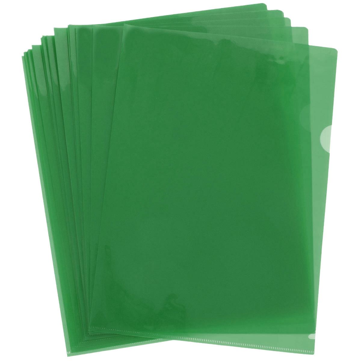 Папка-уголок Sponsor, цвет: зеленый. Формат А4, 20 штSF208-2/GR/RПапка-уголок Sponsor, изготовленная из высококачественного полипропилена, это удобный и практичный офисный инструмент, предназначенный для хранения и транспортировки рабочих бумаг и документов формата А4. Полупрозрачная глянцевая папка имеет опрятный и неброский вид. В наборе - 20 папок.Папка-уголок - это незаменимый атрибут для студента, школьника, офисного работника. Такая папка надежно сохранит ваши документы и сбережет их от повреждений, пыли и влаги.Комплектация: 20 шт.