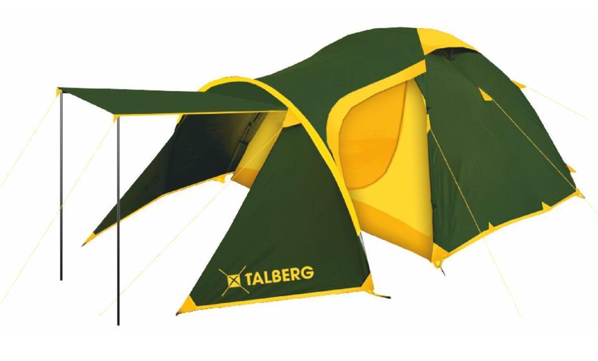Палатка Talberg ATOL 3, цвет: зеленый палатка talberg forest pro 2