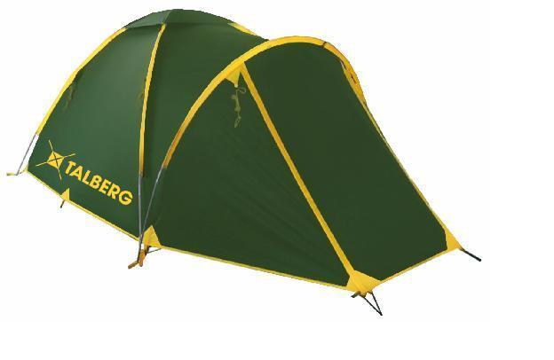 Палатка Talberg BONZER 4, цвет: зеленый палатка трехместная с тамбуром двухслойная boyscout 61080