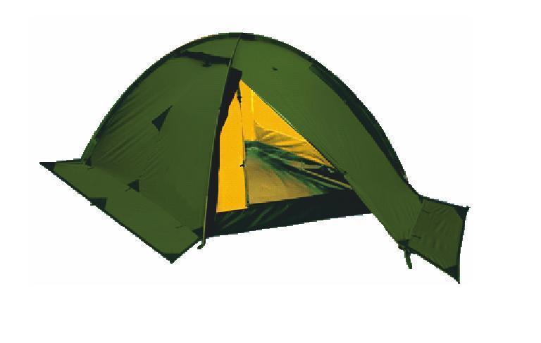 Палатка Talberg VEGA 2, цвет: зеленыйУТ-000059401Легкая двухслойная одноместная палатка для велосипедных и пеших походов. Туристическая линия Talberg.Палатки Talberg Туристической линии были специально разработаны для походов в весеннее, летнее и осеннее время. В палатках этой серии используются материалы и конструкции, которые позволяют комфортно провести теплую летнюю ночь или переждать серьезную непогоду с сильным ветром и осадками. Состав материала: полиэстер, фибергласс