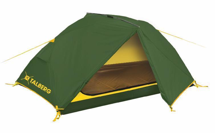Палатка Talberg BORNEO 2, цвет: зеленыйУТ-000059321Легкая двухслойная двухместная палатка с дополнительной верхней выносной дугой, увеличивающей объем тамбуров.Палатки Talberg Туристической линии были специально разработаны для походов в весеннее, летнее и осеннее время. В палатках этой серии используются материалы и конструкции, которые позволяют комфортно провести теплую летнюю ночь или переждать серьезную непогоду с сильным ветром и осадками. Состав материала: полиэстер, фибергласс