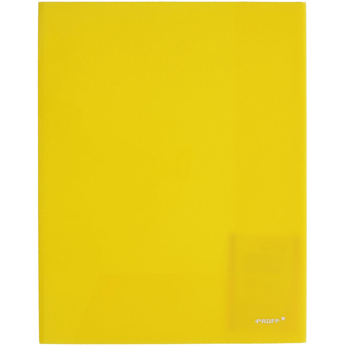 Proff Папка-уголок цвет желтый 2 клапанаE311A/30-TF-02Папка-уголок Proff, изготовленная из высококачественного полипропилена -это удобный и практичный офисный инструмент, предназначенный для хранения и транспортировки рабочих бумаг и документов формата А4.Полупрозрачная папка оснащена двумя клапана внутри для надежного удержания бумаг.Папка-уголок - это незаменимый атрибут для студента, школьника, офисного работника. Такая папка надежно сохранит ваши документы и сбережет их от повреждений, пыли и влаги.